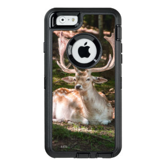 guard of cellular photograph stag under wood OtterBox defender iPhone case