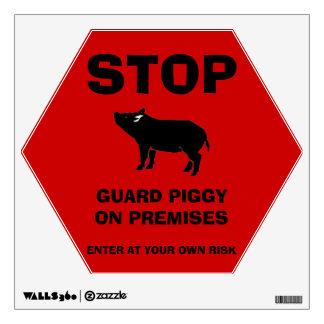 Guard Piggy Wall Decal