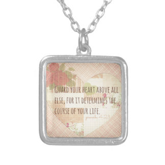 Guard Your Heart - Proverbs 4:23 Silver Plated Necklace