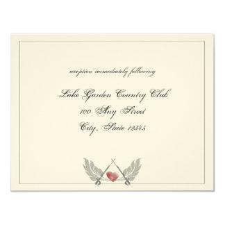 Guarded Heart Wedding reception Card