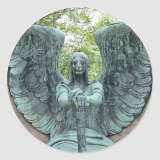 Guardian Angel 2 Classic Round Sticker