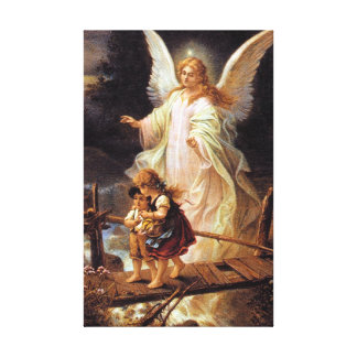 Guardian Angel and Children Canvas Print