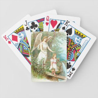 Guardian Angel And Girl Bicycle Playing Cards