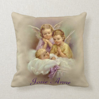 Guardian Angel Baby Clouds Customize Throw Pillow