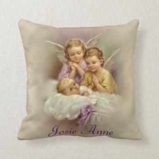Guardian Angel Baby Clouds Customize Throw Pillow