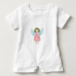 Guardian angel baby romper