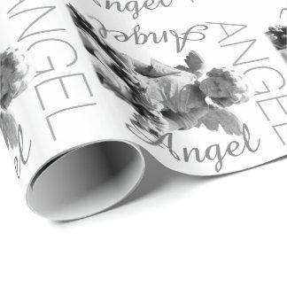 Guardian Angel black and white retro monogram