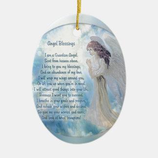 Guardian Angel Blessings Ceramic Ornament