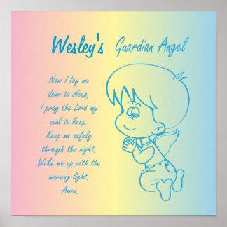 Guardian Angel Boy Evening Prayer Poster