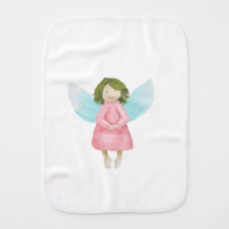 Guardian angel burp cloth