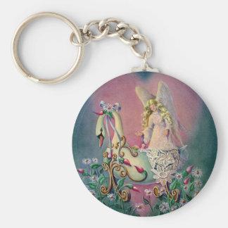 GUARDIAN ANGEL by SHARON SHARPE Basic Round Button Keychain