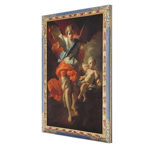 Guardian Angel, c.1685-94 Canvas Prints