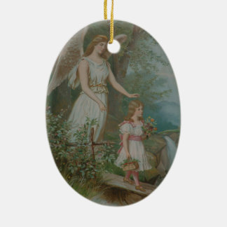 Guardian Angel Ceramic Ornament