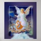 Guardian Angel, Children and Bridge (Exclusive) Poster