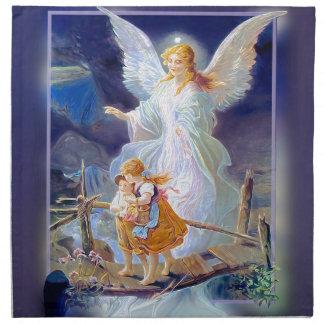 Guardian Angel, Children and Bridge Printed Napkins