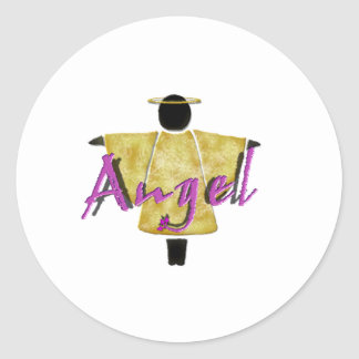 Guardian Angel Classic Round Sticker