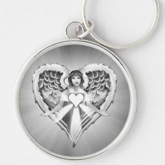 Guardian Angel Heart Wing Design) Keychain
