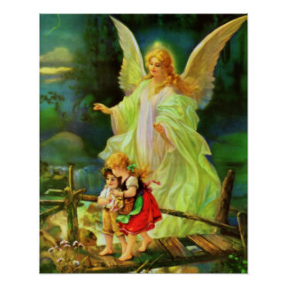 Guardian Angel Image Print Poster