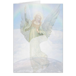 Guardian Angel in the Clouds Card