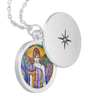 Guardian Angel Locket Necklace