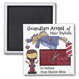 Guardian Angel of Hair Stylists by SRF Magnet
