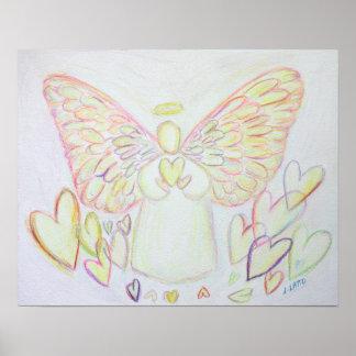 Guardian Angel of Hearts Art Poster Print