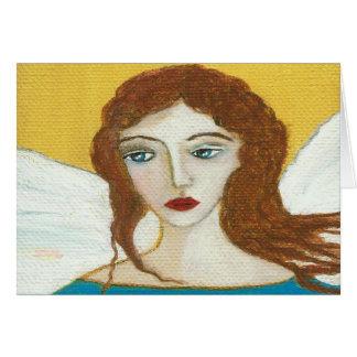 Guardian Angel Original Art Greeting Note Card