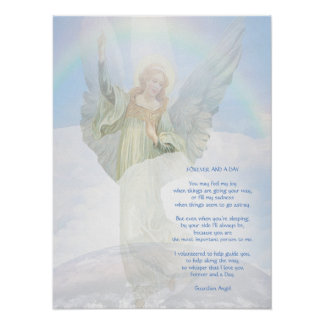 Guardian Angel Poem Poster