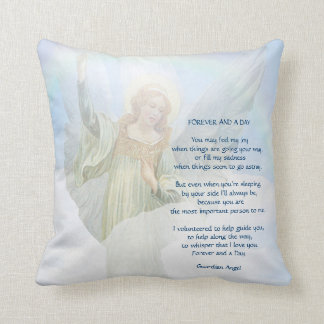 Guardian Angel Poem Throw Pillow