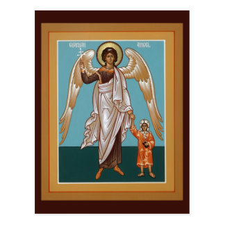Guardian Angel Prayer Card Postcard