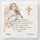 Guardian Angel Prayer Catholic Gift Personalized Stone Coaster