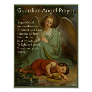 Guardian Angel Prayer for Boys Poster