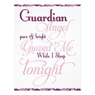 Guardian Angel Prayer Personalized Letterhead
