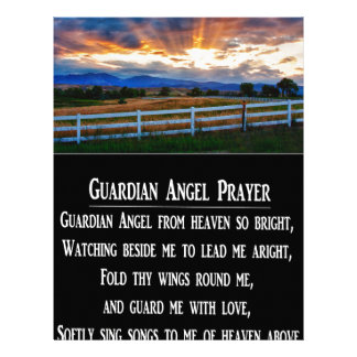 Guardian Angel Prayer Letterhead Template