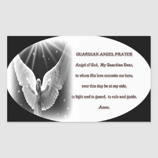 guardian angel prayer sticker