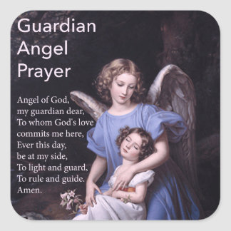 Guardian Angel Prayer with Girl Sticker