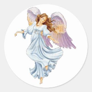 Guardian Angel Round Sticker