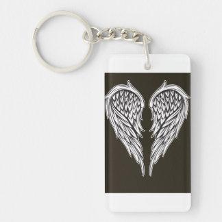 Guardian angel Single-Sided rectangular acrylic keychain