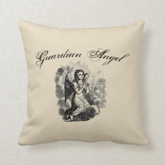 Guardian Angel Vintage Style Throw Pillow