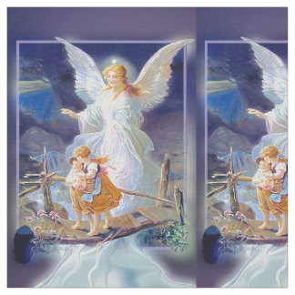 Guardian Angel with Children Fabric