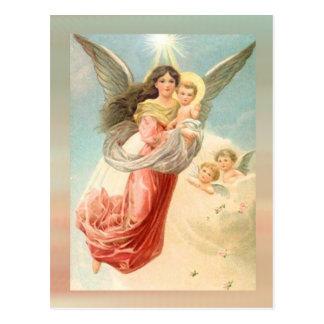 Guardian Angel with Children Postcard