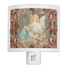 Guardian Angel with Pink Roses Night Lite
