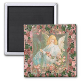 Guardian Angel with Roses Magnet