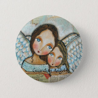 Guardian Angels 2 Inch Round Button