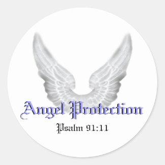 Guardian Angels Round Sticker