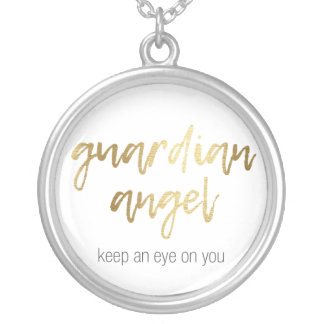 guardian fishing rod - keep to eye on you silver plated necklace