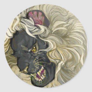 Guardian Lion Classic Round Sticker