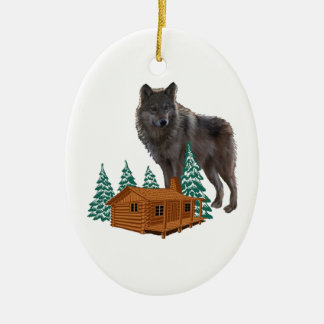 Guardian of Night Ceramic Ornament
