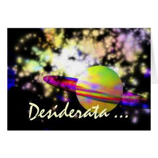 Guardian of the Galaxy DESIDERATA Card