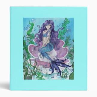 """Guardian of the Pearl"" cute mermaid art BINDER"
